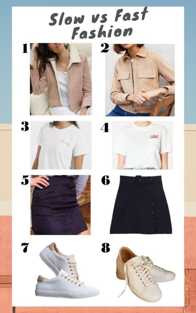 sélection slow fashion versus mode fast-fashion pour les femmes