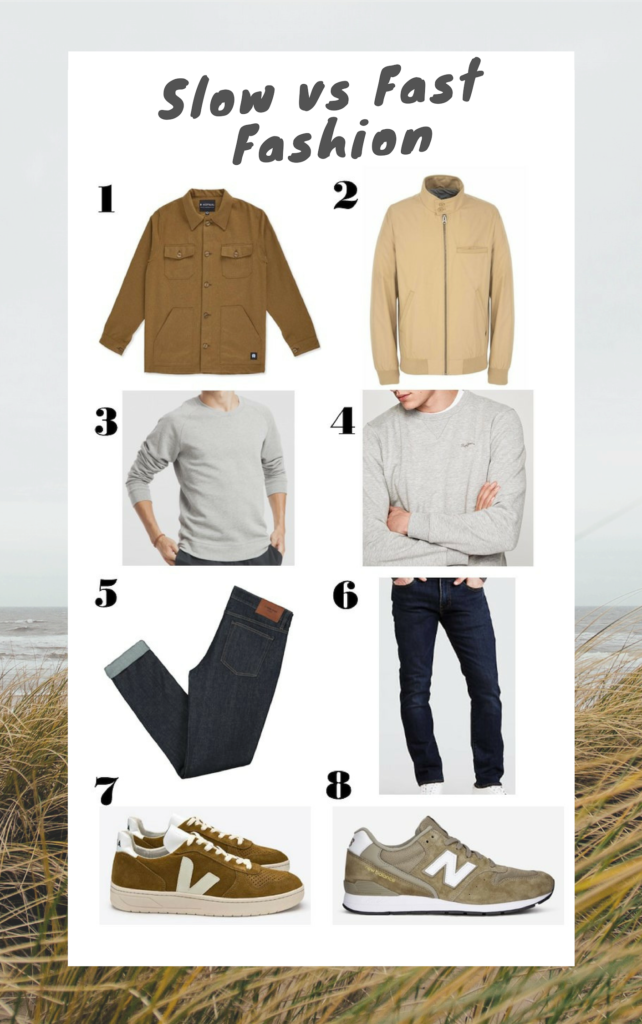 sélection slow fashion versus mode fast-fashion pour les hommes