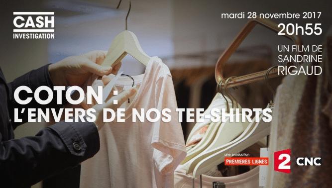 affiche du documentaire Coton l'envers de nos tee shirts