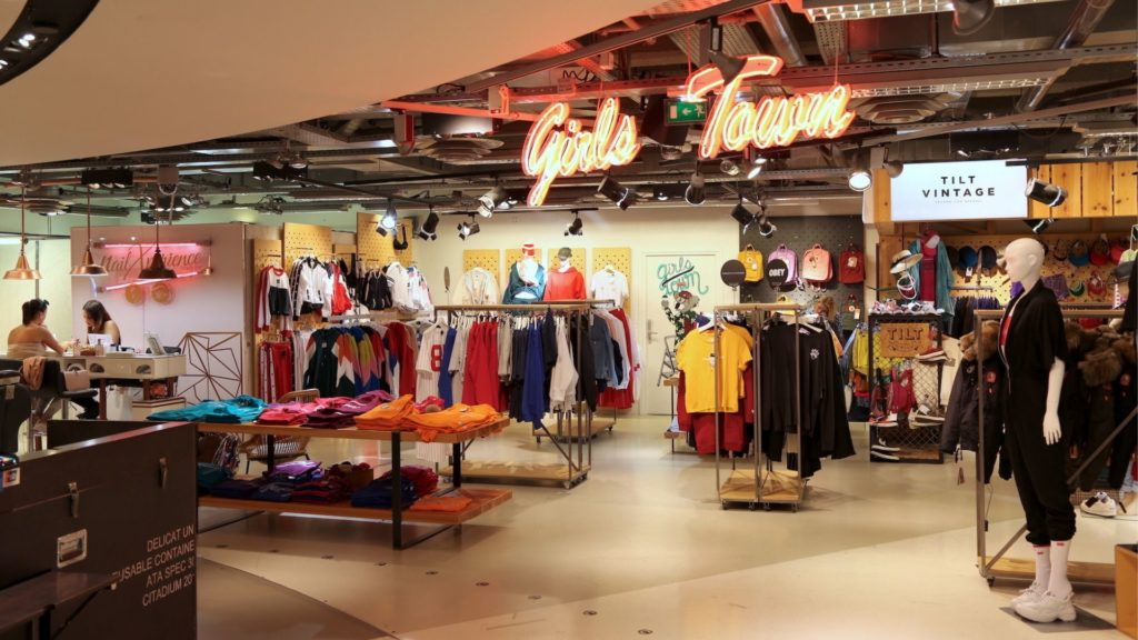 Onzième exemple: les corners vintage des grands magasins